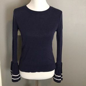 BP navy blue sweater w/ bell sleeves